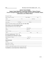 Adult Volunteer Form